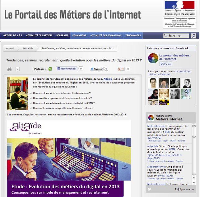 Métiers de l'Internet