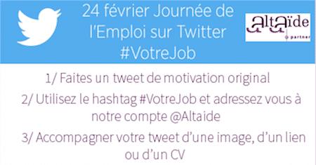 Journée Européenne de l'Emploi sur Twitter : décrochez un entretien chez Altaide