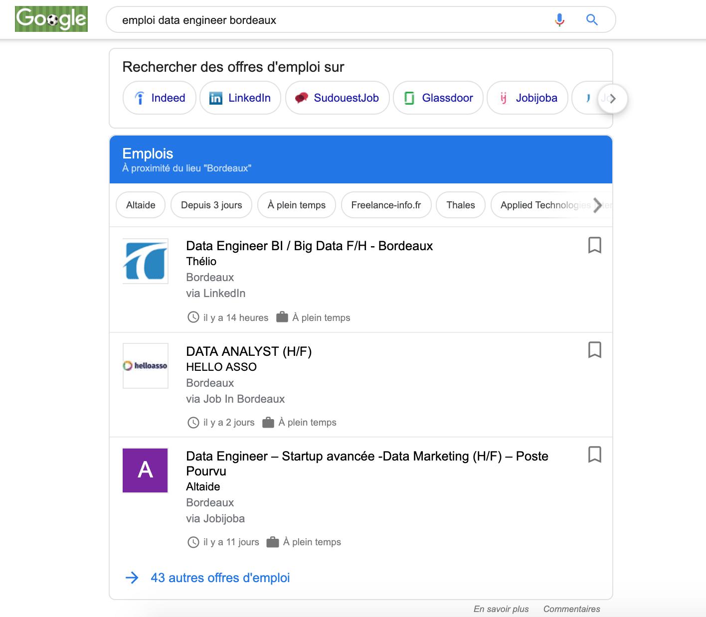 google emploi