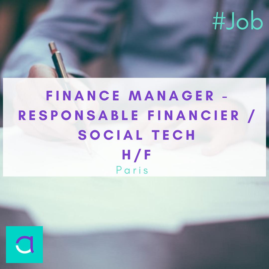 Finance Manager - Responsable Financier / Social Tech