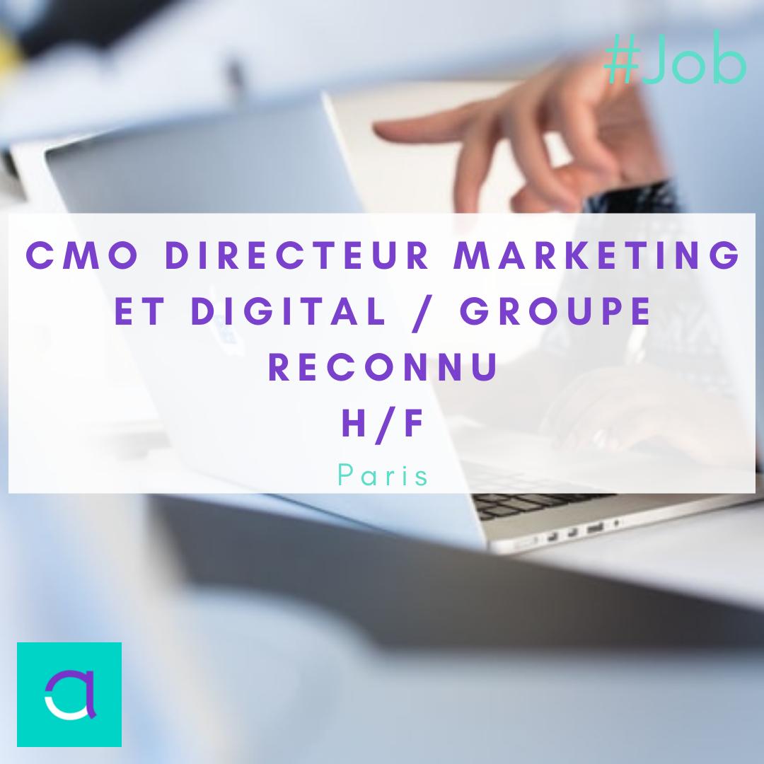 CMO Directeur Marketing et Digital