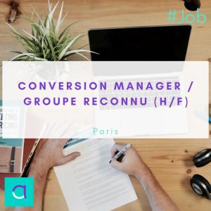 Offre d'emploi Conversion Manager