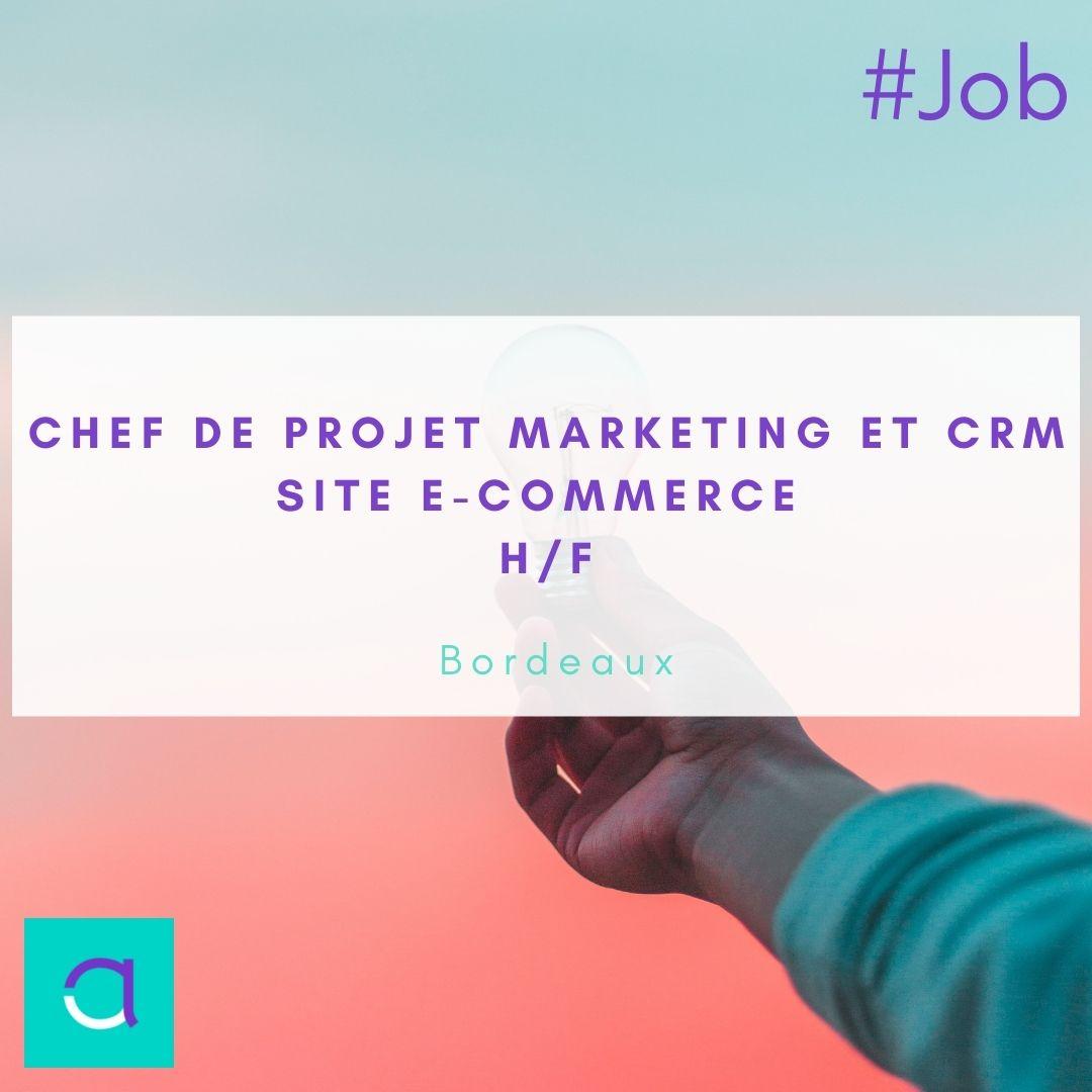 Offre d'emploi Chef de projet marketing et CRM