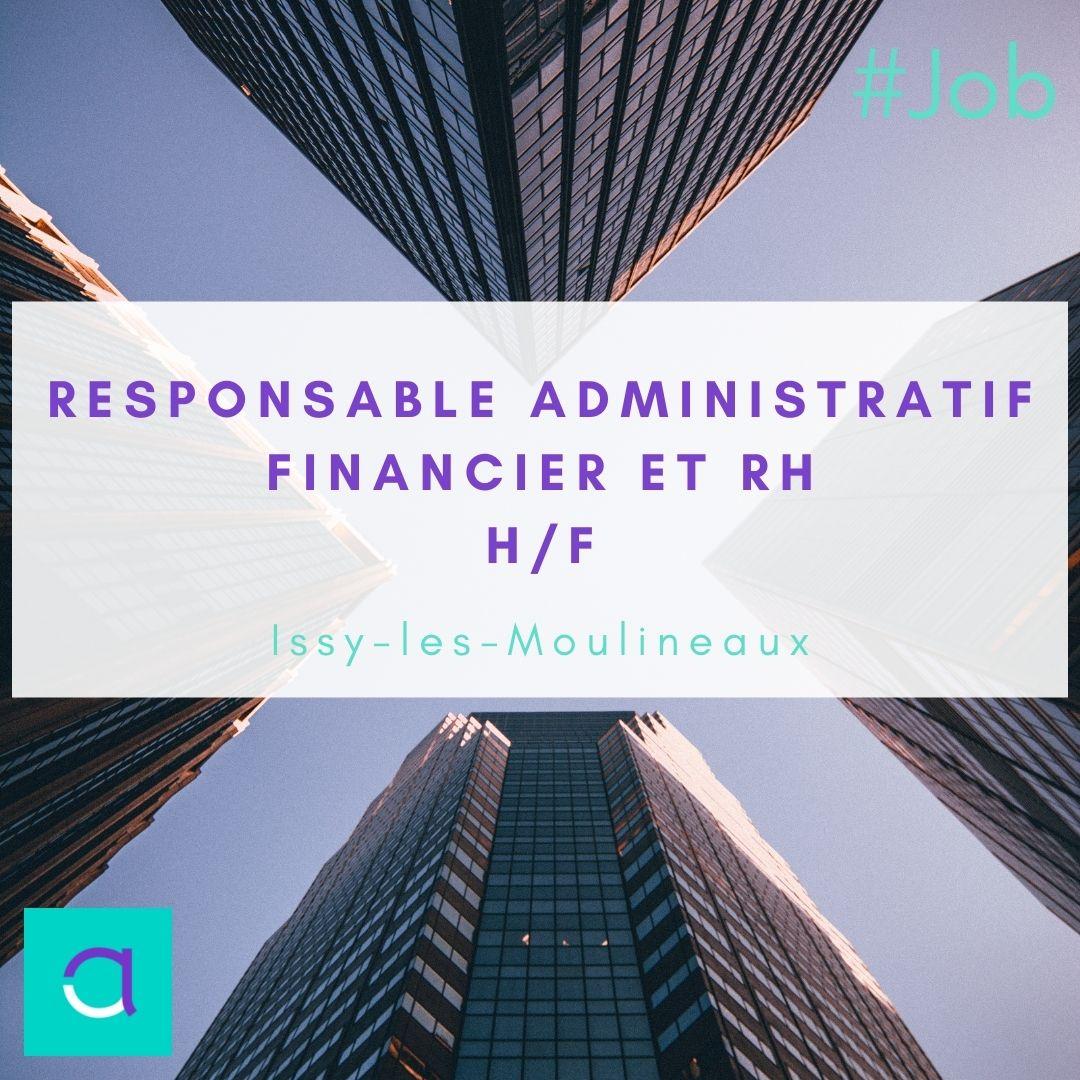 Offre d'emploi Responsable Administratif Financier et RH