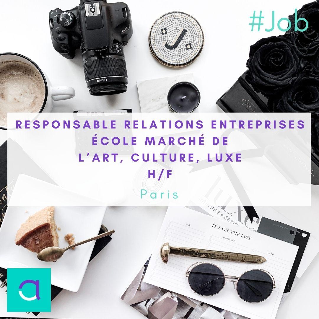Responsable Relations Entreprises École Marché de l'art culture luxe